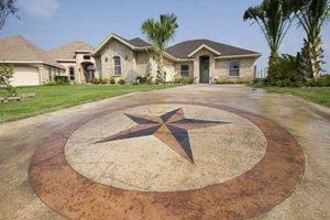 Americrete decorative concrete driveway