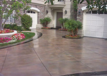 Americrete stain and sealer on driveway