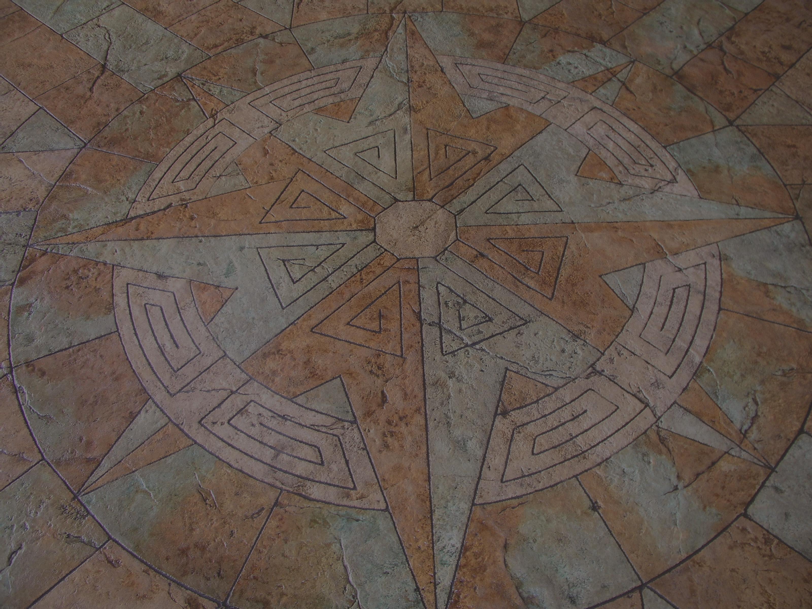 Americrete stain and decorative stamp