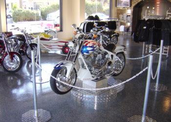 Americrete epoxy in bike dealership