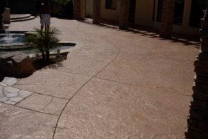 Beautiful Americrete stamped concrete