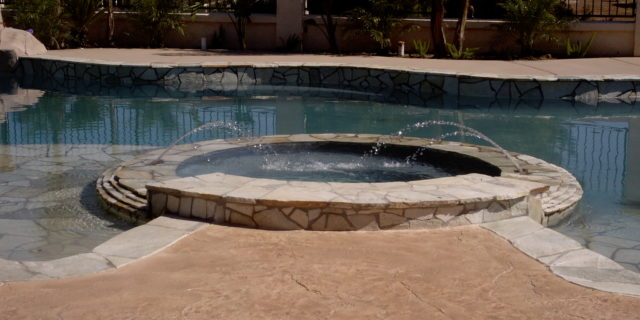 Jacuzzi with Americrete stain