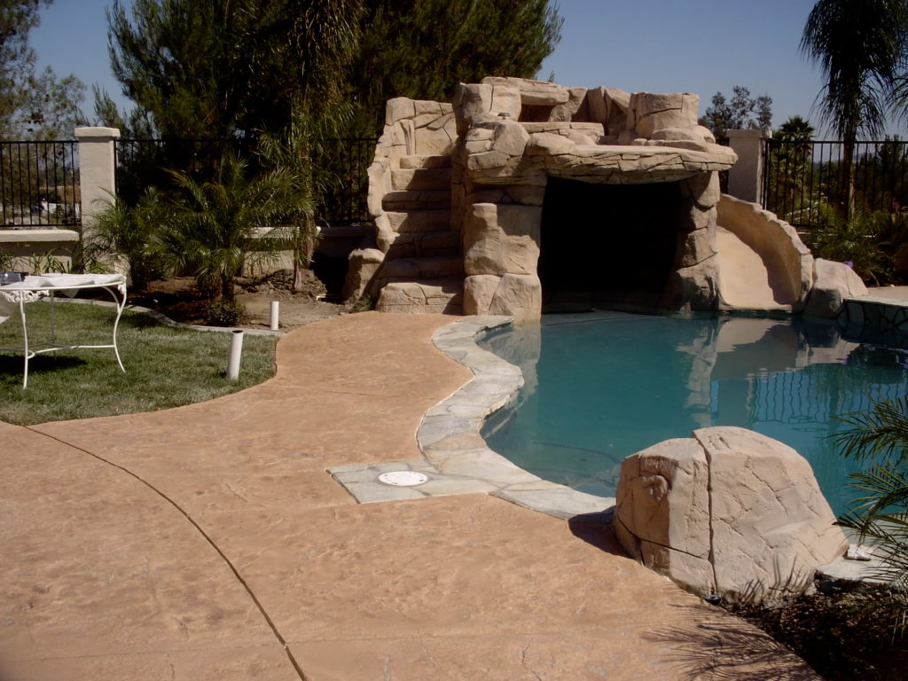 Pool deck with Americrete stain and seal