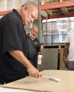 Joe Devlin Applying Deck Coating